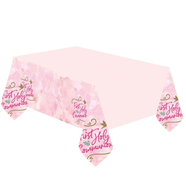 Pink First Holy Communion Tablecover
